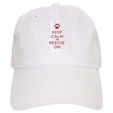 Keep Calm And Rescue On Animal Rescue Baseball Baseball Cap