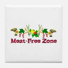 Meat-Free Zone Tile Coaster
