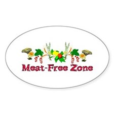 Meat-Free Zone Decal