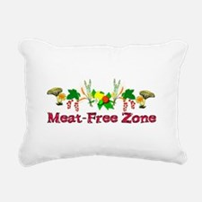 Meat-Free Zone Rectangular Canvas Pillow