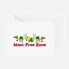 Meat-Free Zone Greeting Card