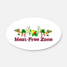 Meat-Free Zone Oval Car Magnet