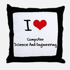 I Love COMPUTER SCIENCE AND ENGINEERING Throw Pill