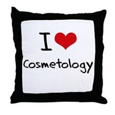 I Love COSMETOLOGY Throw Pillow
