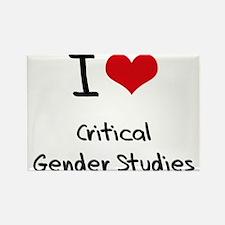 I Love CRITICAL GENDER STUDIES Rectangle Magnet