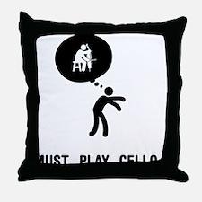 Cello Player Throw Pillow