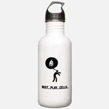 Cello Player Water Bottle