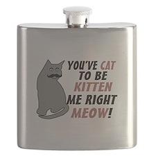 Kitten Me Right Meow Flask