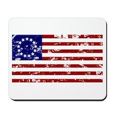 Worn Betsy Ross American Flag Mousepad