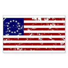 Worn Betsy Ross American Flag Decal