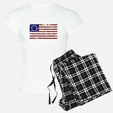 Worn Betsy Ross American Flag Pajamas