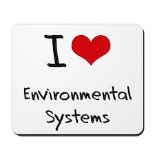 I Love ENVIRONMENTAL SYSTEMS Mousepad
