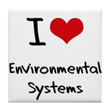 I Love ENVIRONMENTAL SYSTEMS Tile Coaster