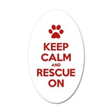 Keep Calm And Rescue On Animal Rescue Wall Decal