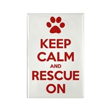 Keep Calm And Rescue On Animal Rescue Rectangle Ma