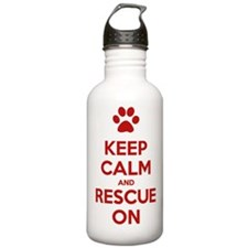 Keep Calm And Rescue On Animal Rescue Water Bottle