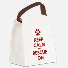Keep Calm And Rescue On Animal Rescue Canvas Lunch