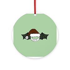 Santa Bat Ornament (Round)