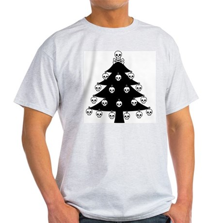 Gothic Skull Christmas Tree Light T-Shirt