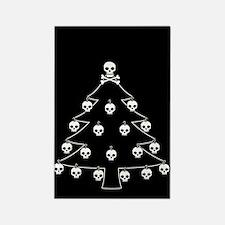 Gothic Skull Christmas Tree Rectangle Magnet