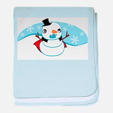 Vampire Snowman baby blanket