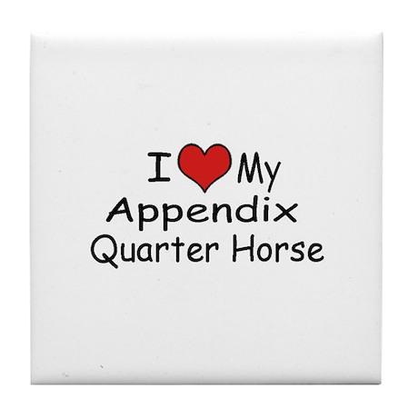 """I """"Heart"""" My Appendix Quarter Tile Coaster"""