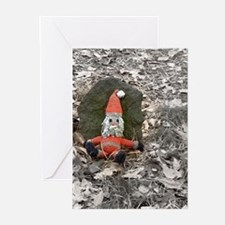 Grungy Santa Doll Greeting Cards (Pk of 20)