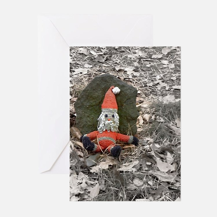 Grungy Santa Doll Greeting Cards (Pk of 10)