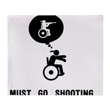 Wheelchair Shooting Throw Blanket