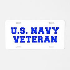 US-NAVY-VETERAN-FRESH blue Aluminum License Plate