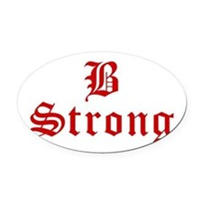 b-strong-old-l-brown Oval Car Magnet