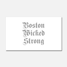 boston-wicked-strong-plain-g-gray Car Magnet 20 x