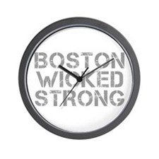 boston-wicked-strong-cap-gray Wall Clock