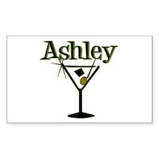 """Ashley Retro Martini"" Rectangle Decal"