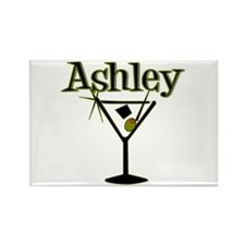 """Ashley Retro Martini"" Rectangle Magnet"