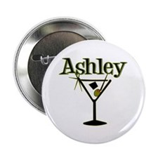 """Ashley Retro Martini"" Button"