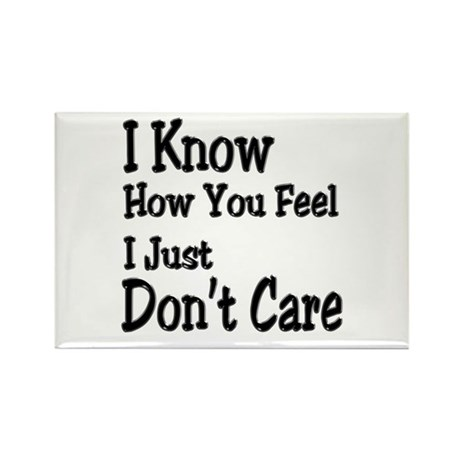 Don't Care Rectangle Magnet (10 pack)
