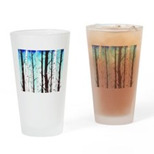 Sapphire Sky with Birch Forest Drinking Glass