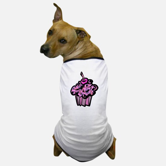 Pinks And Purples Camouflage Cupcake Dog T-Shirt