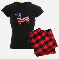 Patriotic Dachshund pajamas