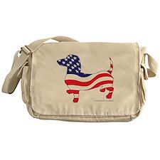 Patriotic Dachshund Messenger Bag