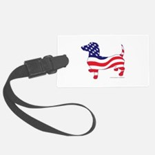 Patriotic Dachshund Luggage Tag