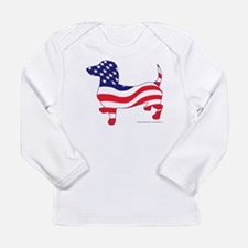 Patriotic Dachshund Long Sleeve Infant T-Shirt
