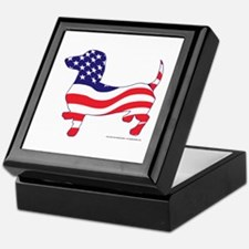 Patriotic Dachshund Keepsake Box