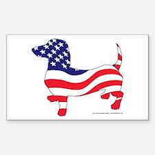 Patriotic Dachshund Decal
