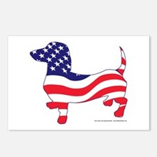 Patriotic Dachshund Postcards (Package of 8)
