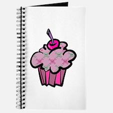 Pink Punk Skull Crossbones Cupcake Journal