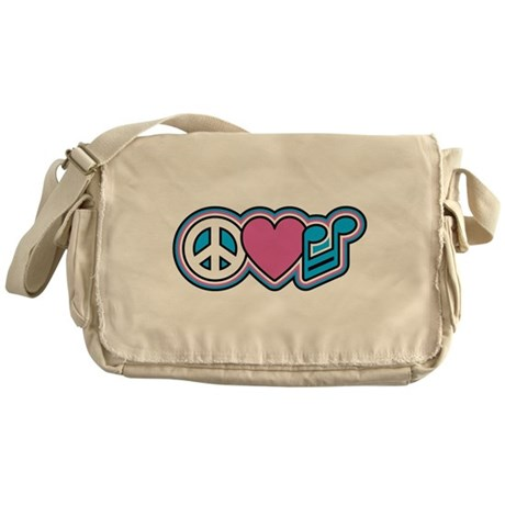 PEACE HEART MUSIC Messenger Bag