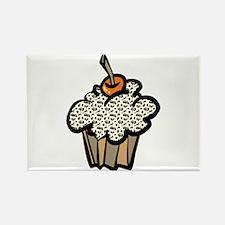 Leopard Print Cupcake Rectangle Magnet (10 pack)