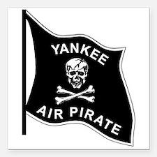 "Yankee Air Pirate Square Car Magnet 3"" x 3"""
